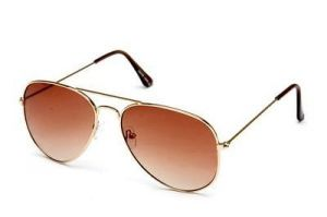 Blue-tuff Aviator Stylish Sunglasses Brown Mirror With Golden Frame