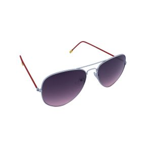 Blue-tuff Aviator Sunglasses Silver/red Frame With Red Mirror