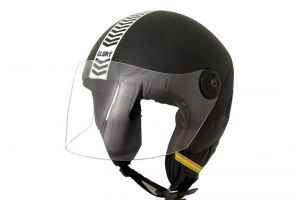 MP Glory Open Face Motorcycle Scooter Black Helmet For Gents/boys With Isi Mark Glr Track