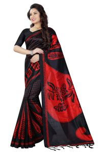 See More Black Color Printed Bhagalpuri Saree - ( Code - Art Silk 3 )