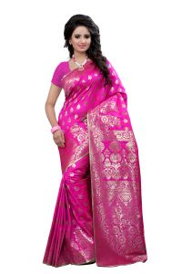 See More Self Design Pink Color Kanjivaram Art Silk Saree 1003