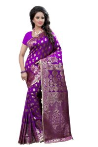 See More Self Design Purple Color Kanjivaram Art Silk Saree
