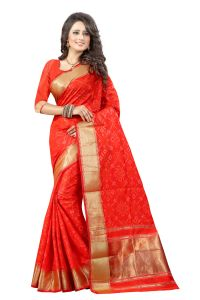 See More Self Design Orange Color Banarasi Patola Saree Banarasi Patola 1 Orange