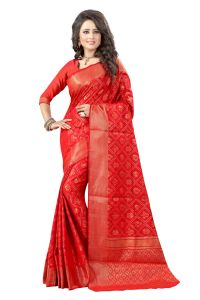 See More Self Design Red Color Banarasi Patola Saree Banarasi Patola 2 Red