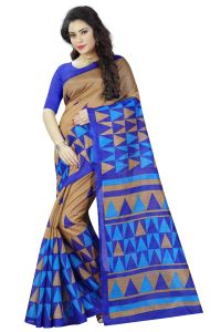 See More Multicolor Printed Bhagalpuri Saree - (code - Bh-s-27)