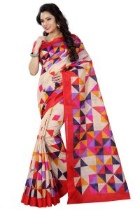 See More Sarees (Misc) - See More Multicolor Printed Bhagalpuri Saree - (Code - BH-S-33)