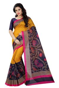 See More Multicolor Printed Bhagalpuri Saree - (code - Bh-s-34)