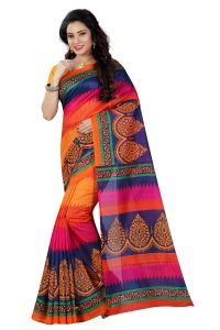 See More Multicolor Printed Bhagalpuri Saree - (code - Bh-s-35)