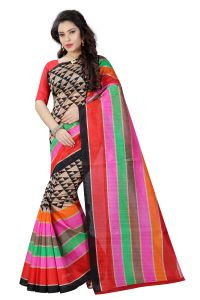 See More Multicolor Printed Bhagalpuri Saree - (code - Bh-s-38)
