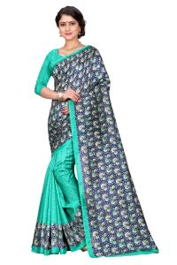 See More Blue Color Printed Bhagalpuri Saree - (code - Bh-s-54)