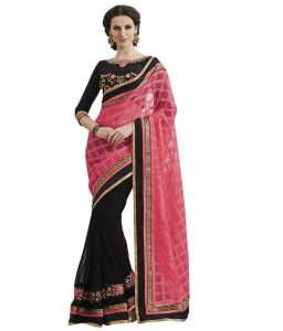 See More Self Designtissue Jequard And Georgette Saree