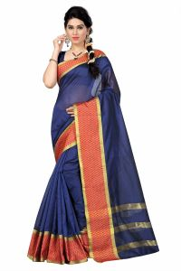 See More Self Designer Nevy Blue Color Tussar Silk Saree With Blouse Piece Dobby Cheks Nevy Blue