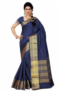 See More Self Designer Blue And Golden Color Tassar Silk Saree With Blouse Piece Singh 222( Product Code - Singh 222)