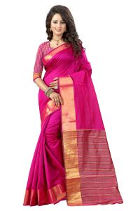 See More Self Designer Pink And Golden Color Tassar Silk Saree With Blouse Piece Sandy Madari Pink( Product Code - Sandy Madari Pink)