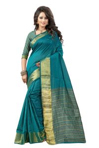 See More Self Designer Rama Green And Golden Color Tassar Silk Saree With Blouse Piece Sandy Madari Rama( Product Code - Sandy Madari Rama)