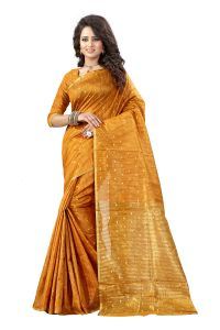 See More Self Designer Mustard And Golden Color Tassar Silk Saree With Blouse Piece Sathiya Butti 2 Mustard( Product Code - Sathiya Butti 2 Mustard)