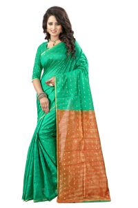 See More Self Designer Green And Maroon Color Tassar Silk Saree With Blouse Piece Sathiya( Product Code - Sathiya Butti Green Maroon)