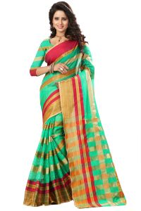 See More Self Design Green Color Art Silk Saree Manipuri 555 Green