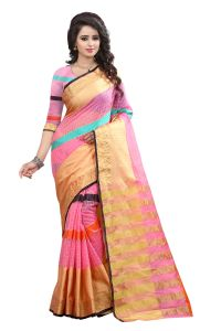 See More Self Designer Pink Color Net Saree With Blouse Piece Manipuri 666 Pink