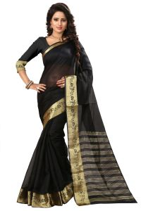 See More Self Design Black Color Art Silk Saree Mohini 1 Black