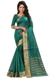 See More Self Design Rama Color Art Silk Saree Mohini 1 Rama