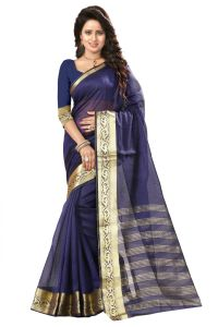 See More Self Design Nevy Blue Color Art Silk Saree Mohini 3 Nevy Blue