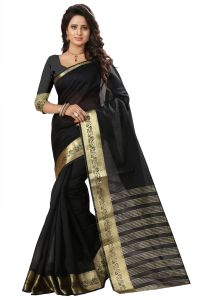 See More Self Design Black Color Art Silk Saree Mohini 5 Black