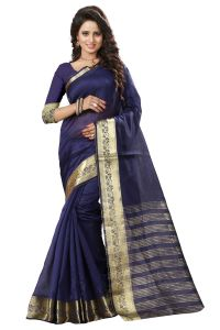 See More Self Design Nevy Blue Color Art Silk Saree Mohini 5 Nevy Blue