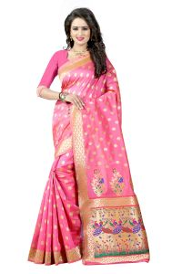 See More Sarees - See More Light Pink Color Paithani Silk Saree Paithani 1 Light Pink
