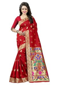 See More Red Color Paithani Silk Saree Paithani 2 Red