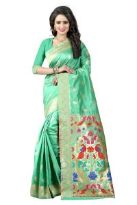 See More Sea Green Color Paithani Silk Saree Paithani 2 Sea Green