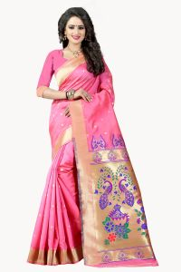 See More Light Pink Color Paithani Silk Saree Paithani 4 Light Pink