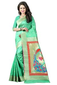See More Sea Green Color Paithani Silk Saree Paithani 5 Sea Green