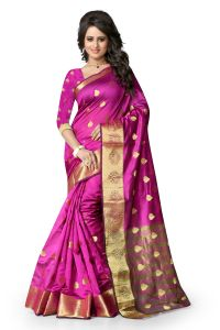 See More Self Design Mazenta Color Banarasi Saree Raj Butti Purple. Raj Butti Purple.
