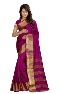 See More Self Designer Mazenta Color Art Silk Saree With Blouse Piece Sharma Kamal Mazenta
