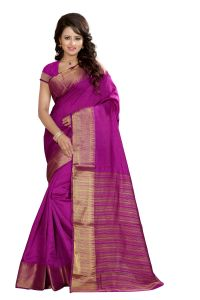 See More Self Designer Majenta Color Art Silk Saree With Blouse Piece Sharma Simple Majenta