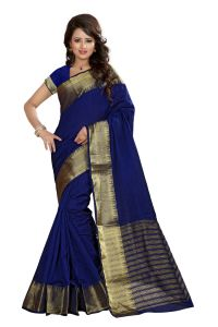 See More Self Designer Nevy Blue Color Art Silk Saree With Blouse Piece Sharma Simple Nevy Blue