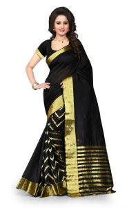 See More Self Design Black Color Art Silk Banarasi Saree For Woman Tamasha Leriya Black.