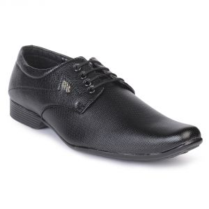 Semana Black Lace Up Shoes