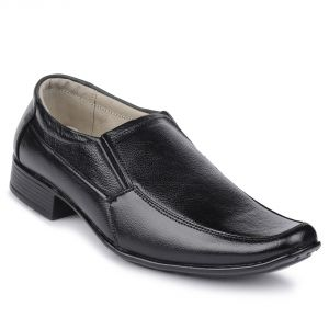 Formal Shoes (Men's) - Semana Premium Quality Black Formal Shoes