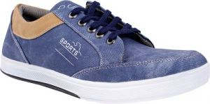 Semana Blue Canvas Casual Shoes