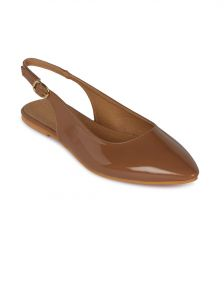 Flora Beige Synthetic Leather Flat Sandal For Women - (product Code - Fr-8101-39)