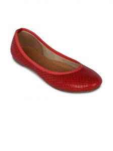 Flora Red Synthetic Leather Casual Bellies For Women - (product Code - Fr-7137-05)