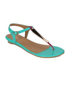 Flora Green Synthetic Leather Sandal For Women - (product Code - Pf-4000-16)