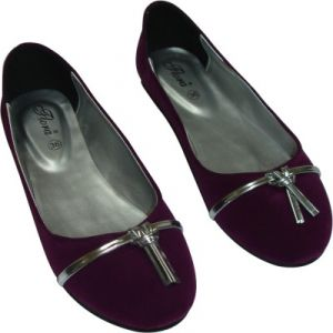 Flora Purple Suede Casual Bellies For Women - (product Code - Fr-8005-11)