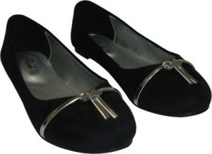 Flora Black Suede Casual Bellies For Women - (product Code - Fr-8005-01)