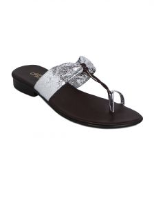 Footwear - Flora Silver Synthetic Leather Heels Slip-on For Women - (Product Code - PF-0118-21)