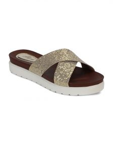 7448ecbc7bf92 Gold Flat Sandals - Buy Gold Flat Sandals Online   Best Price in India