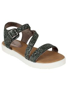 Flora Comfort Grey Heeled Sandals (code - Pf-0134-43)