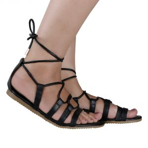 852231a8ef30 Womens Sandals Flat Black - Buy Womens Sandals Flat Black Online ...
